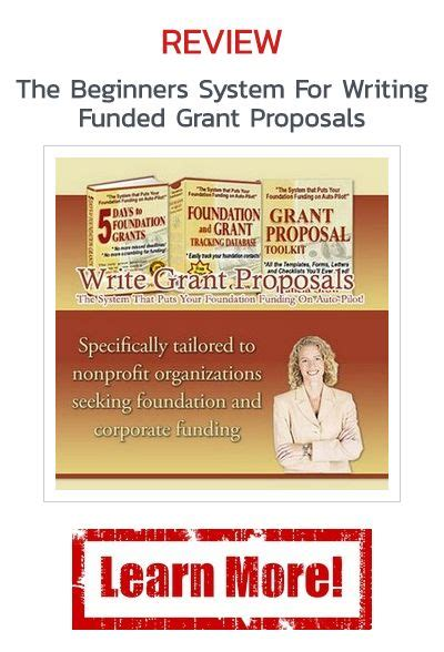 @ The Beginners System For Writing Funded Grant Proposals Review.