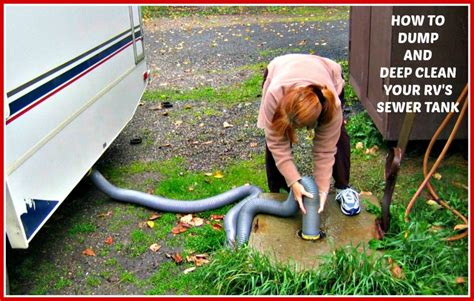 The Best Way To Dump And Deep Clean Your Rvs Sewer Tank.