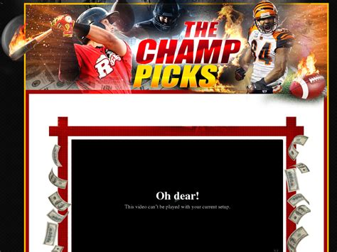 [click]the Champ S Personal Sports Picks.
