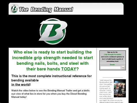 The Diesel Crew Nail Bending Ebook Review Guide.