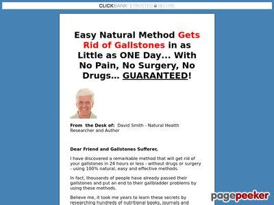 The Gallstone Elimination Report * Make $42.92 With Upsell! – Sure.