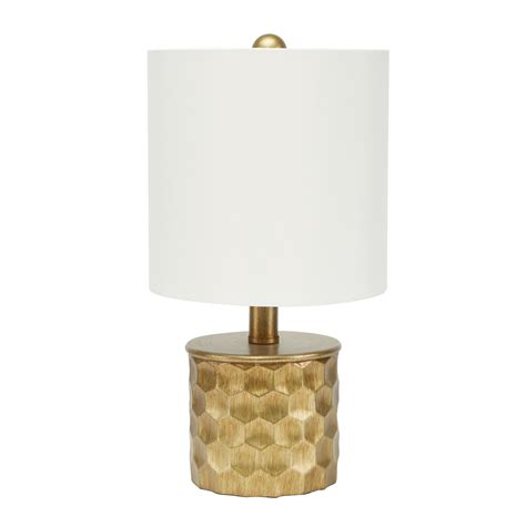 The Hive Gilded Table Lamp With Shade By Silverwood.