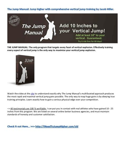 [pdf] The Jump Manual - Exercises That Make You Jump Higher.