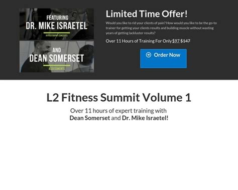 The L2 Fitness Summit Volume 1.