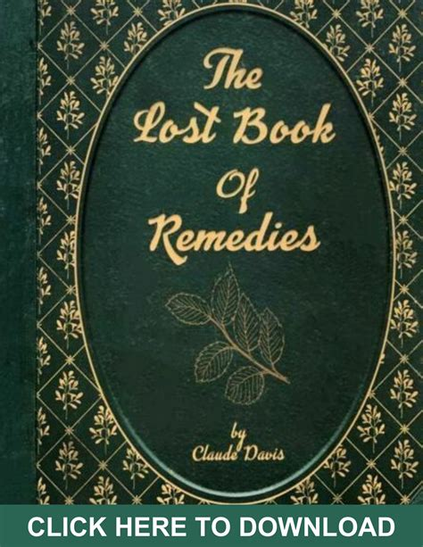 [click]the Lost Book Of Remedies   Claude Davis  37 Only - 2 .