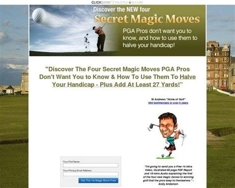 @ The New Four Magic Moves To Winning Golf - Andy Anderson Golf Training.
