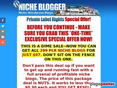 @ The Niche Blog Pack - 299 Niche Plr Wordpress Blogs With