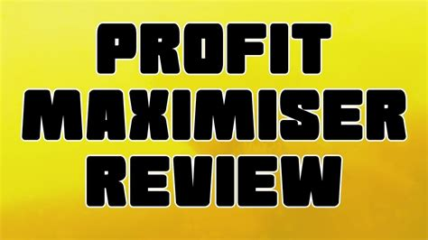 The Profit Maximiser Review – Read What Is Profit Maximiser Before.