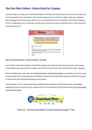 [click]the Pure Pitch Method - Perfect Pitch Ear Training  - Issuu.
