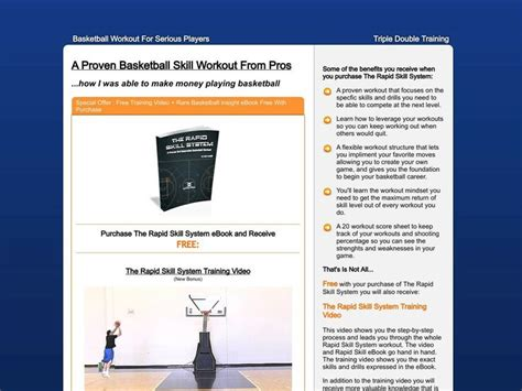 @ The Rapid Skill System - Proven College Basketball Workout .