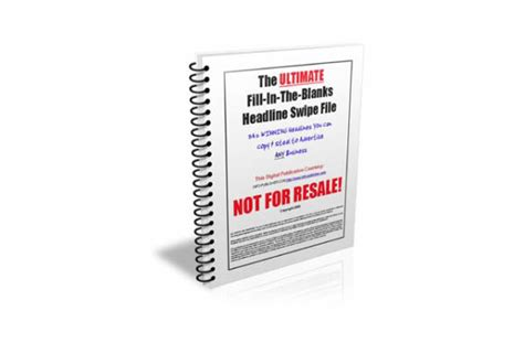 [pdf] The Ultimate Fill-In-The-Blanks Headline Swipe File.