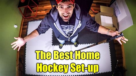 [click]the Ultimate At Home Hockey Training Set-Up.