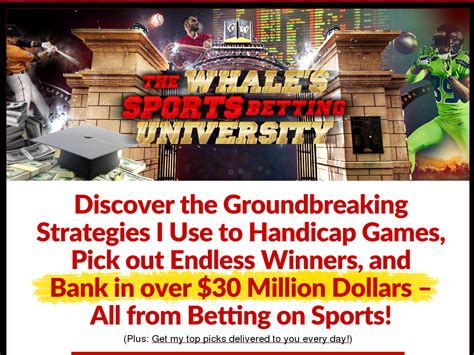 @ The Whale S Sports Betting University - Weekly Recurring .