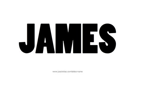 The Name James