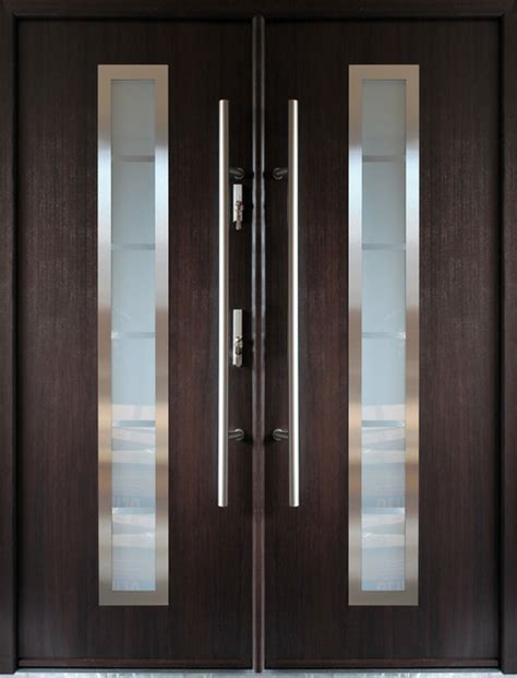 This Instant 76 X95 Stainless Steel Entry Door Wenge .