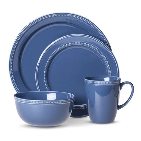 Threshold Threshold Camden 16 Piece Dinnerware Set Blue .