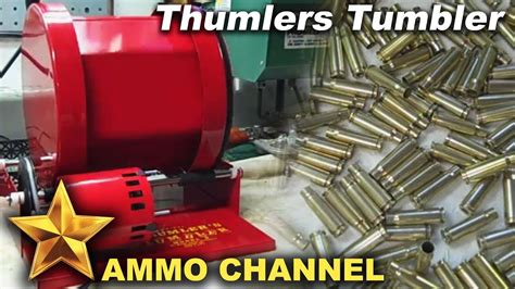Thumlers Tumbler With Stainless Steel Media - Bullet Case Cleaning.