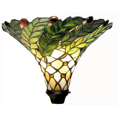 Tiffany Style Green Leafy Torchiere Lamp.