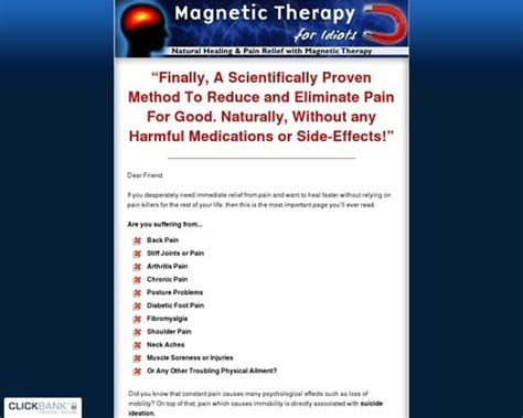 @ Tip Magnetic Therapy For Idiots  Crazy High Conversions .