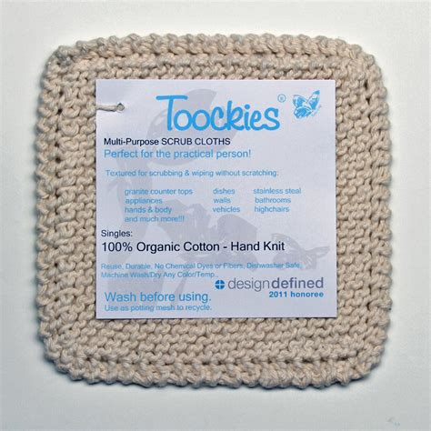 Toockies - Organic Cotton Scrub Cloths.