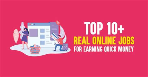 @ Top 10 Real Online Jobs For Earning Quick Money 2019 .