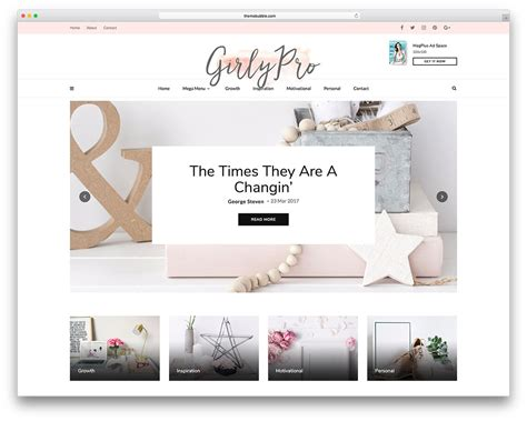 Top 30+ Beautiful Feminine And Girly Wordpress Themes 2019 For.