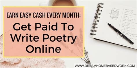 Top 56 Places That Pay Cash To Write Poetry Online - Work At Home.
