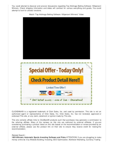 [click]top Arbitrage Betting Software 100percent Winners.