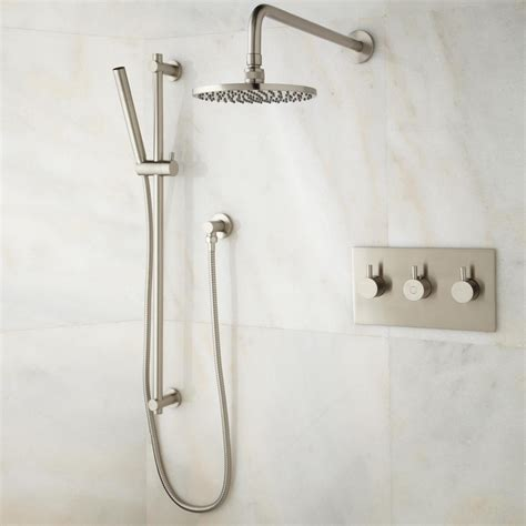 Tosca Thermostatic Shower System With Rainfall Shower And .