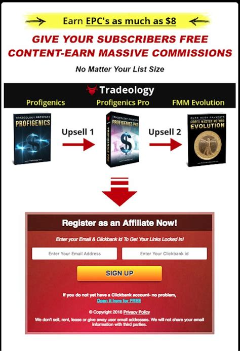 Tradeology - Profigenics Evergreen Forex Funnel Launch Clickbank.
