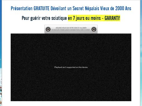 [click]training French Sciatica Sos - Sciatique Sos Tm 50 .
