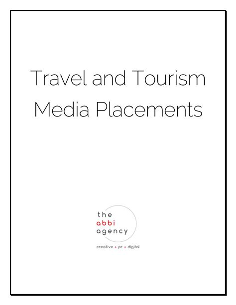 @ Travel And Tourism Media Placements - Issuu.