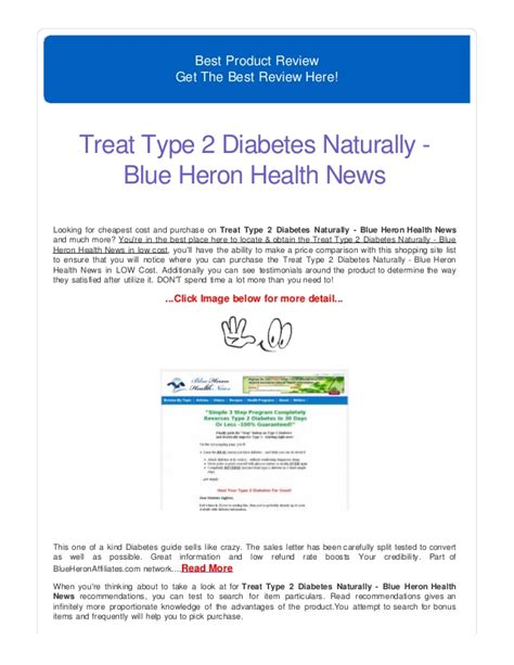 @ Treat Type 2 Diabetes Naturally - Blue Heron Health News .