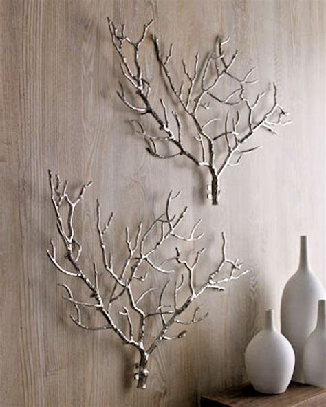 Tree Branch Twig Iron Wall Sculpture Art Decor Modern .