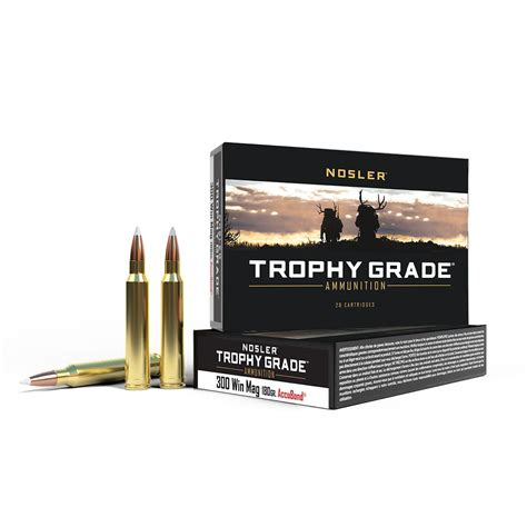 Trophy Grade 300 Win Mag 180 Grain Accubond Ammo 20ct .