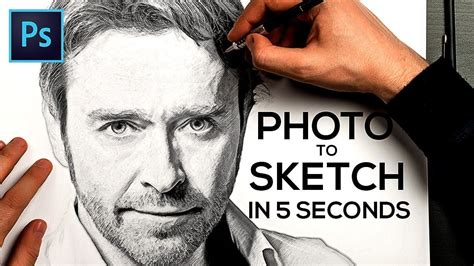 Turn A Photo Into A Pencil Sketch In Photoshop Tutorial.