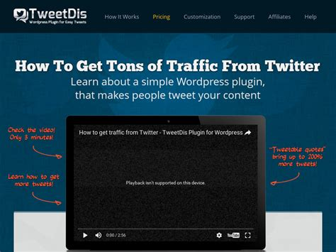 @ Tweetdis For Wordpress Get More Traffic From Twitter And