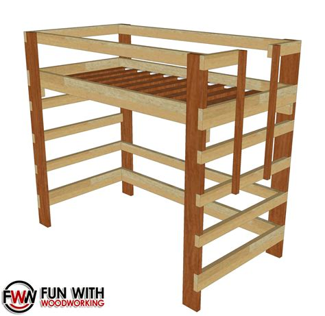 Twin Loft Bed Woodworking Plans