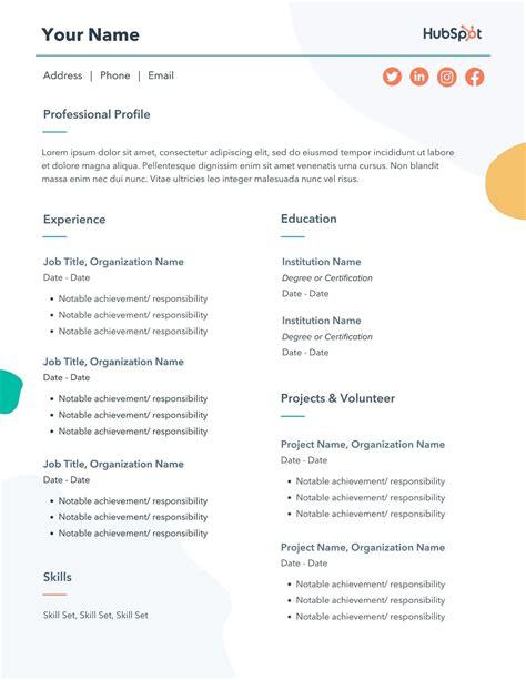 types of resumes pdf
