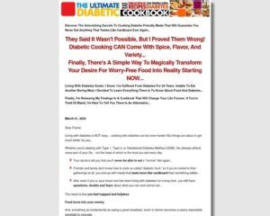 [click]ultimate Diabetic Cookbook 70 Commission Proven Sales .