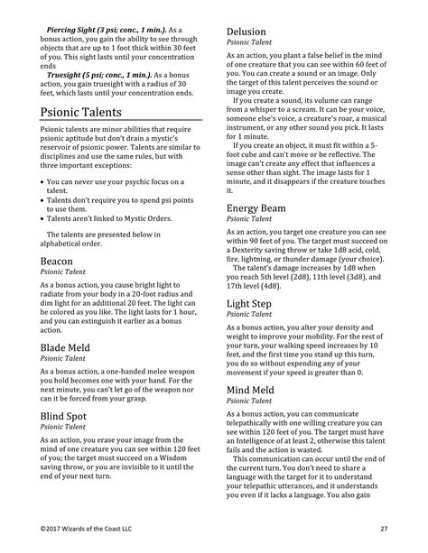 [pdf] Unearthed Arcana The Mystic Class - Wizards Corporate.