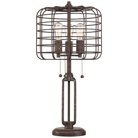 Universal Lighting Decor Industrial Cage Edison Bulb Rust