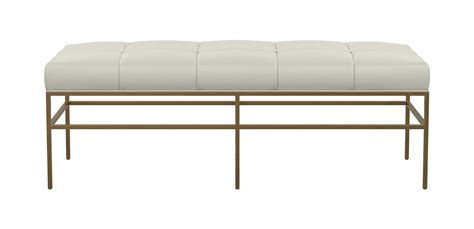 Upholstered Bench With Metal Legs