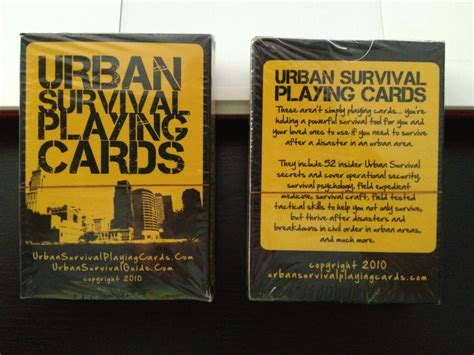 @ Urban Survival Playing Cards.