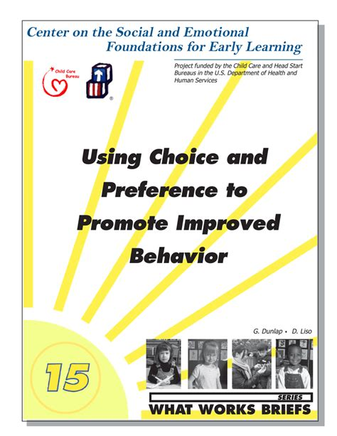 [pdf] Using Choice And Preference To Promote Improved Behavior.