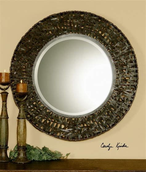 Uttermost 11587 B Alita Woven Metal Mirror  Interiors .