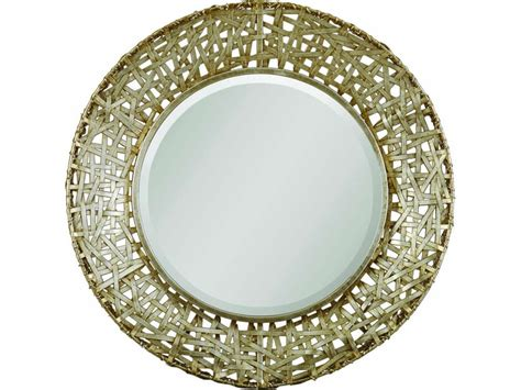 Uttermost Bedroom Alita Champagne Woven Metal Mirror 11603 .