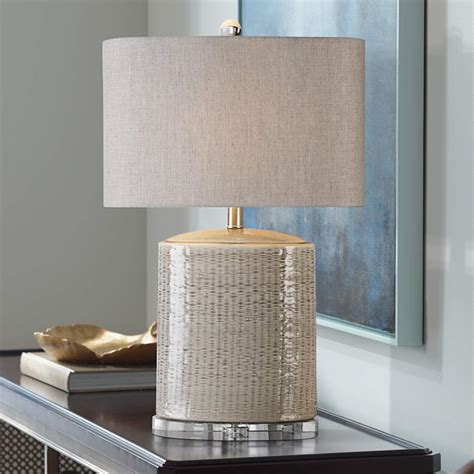 Uttermost Modica Taupe Ceramic Lamp.