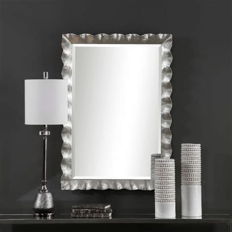Uttermost Silver Leaf Wall Mirror  Bellacor.