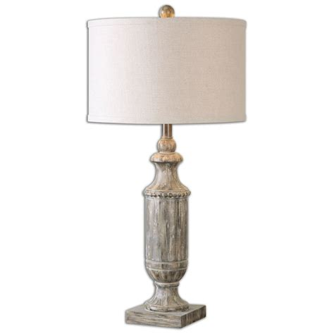 Uttermost Table Lamps Agliano Aged Dark Pecan Lamp.
